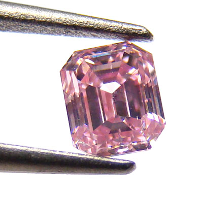 View 0.36 ct. Emerald Cut Fancy Intense p. Pink (ARGYLE)