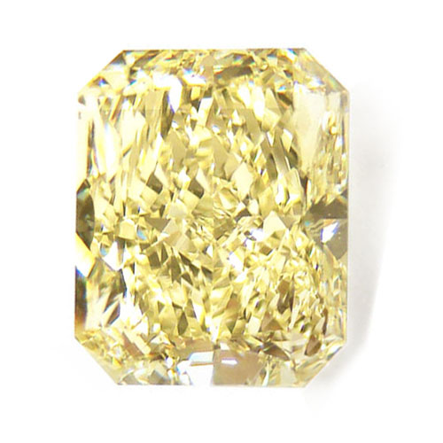 View 5.21 ct. Radiant Fancy Light Yellow (Flawless)
