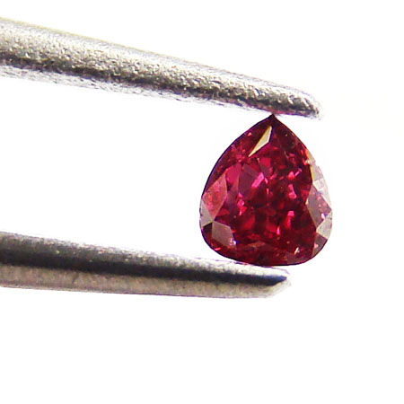 View 0.06 ct. Pear Shape Fancy Purplish RED