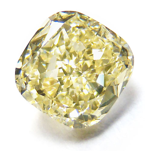 View 1.08 ct. Cushion Fancy Light Yellow (Flawless)