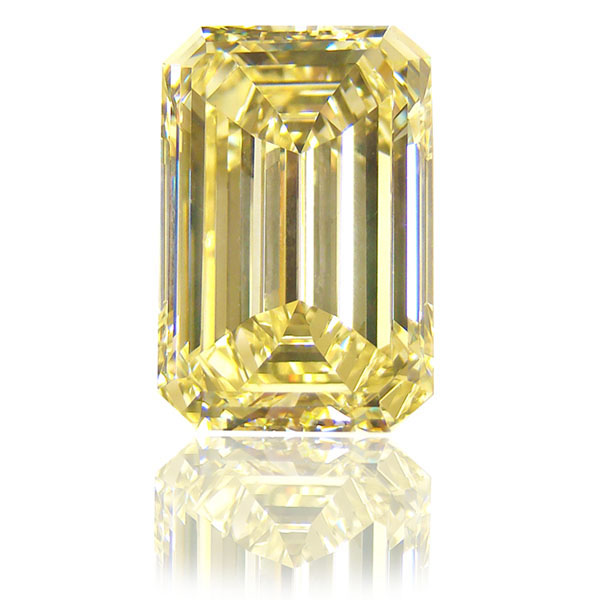 View 12.19 ct. Emerald Cut Fancy Yellow