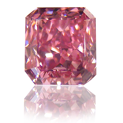 View 0.55 ct. Emerald Cut Fancy VIVID Purplish Pink (ARGYLE)