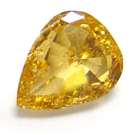 View 1.07 ct. Pear Shape Fancy Intense Yellow-Orange