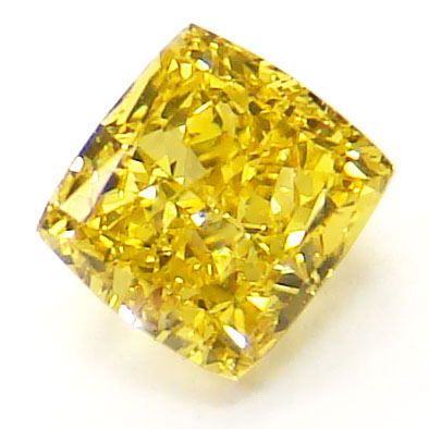 View 0.56 ct. Radiant Fancy Vivid Yellow