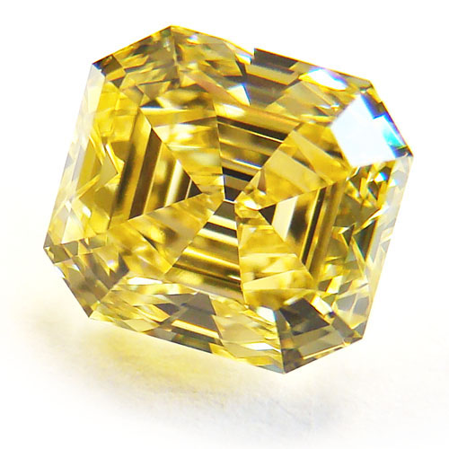 1.95 Emerald Cut Fancy VIVID Yellow