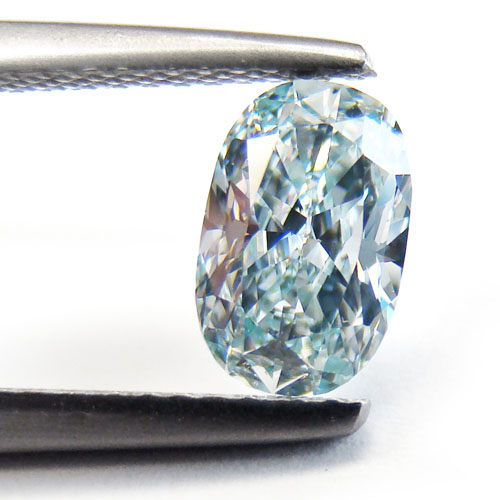View 1.08 ct. Oval Fancy Green-BLUE