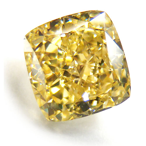 View 1.83 ct. Cushion Fancy Intense Yellow