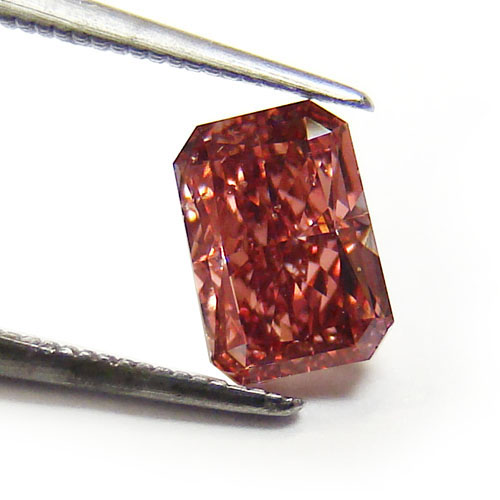 View 0.46 ct. Radiant Fancy Deep Pink