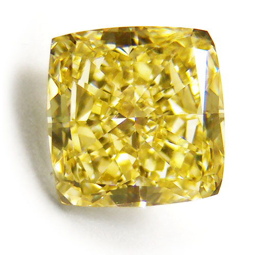 View 1.59 ct. Radiant Fancy Intense Yellow