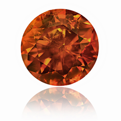 View 1.41 ct. Round FANCY DEEP ORANGE!