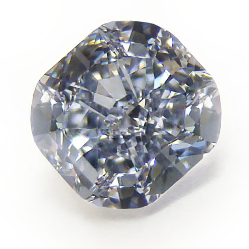 View 0.84 ct. Cushion Fancy Grayish Blue (Flawless)