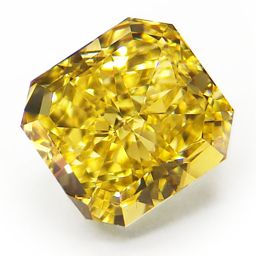 View 1.6 ct. Radiant Fancy Vivid Yellow (Flawless)