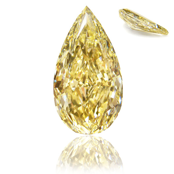 View 6.87 ct. Pear Shape Fancy Yellow (Flawless)