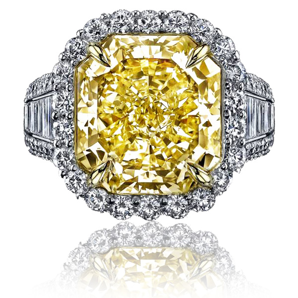 View 10.06 ct. Radiant Fancy Intense Yellow (Flawless)