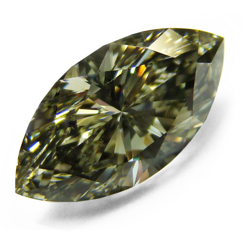 View 1.54 ct. Marquise Fancy Gray Yellowish Green (Chameleon)