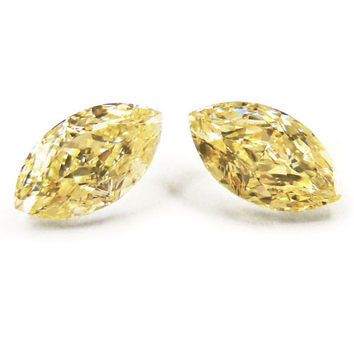 View 1.04 ct. Marquise Fancy Yellow (Pair)