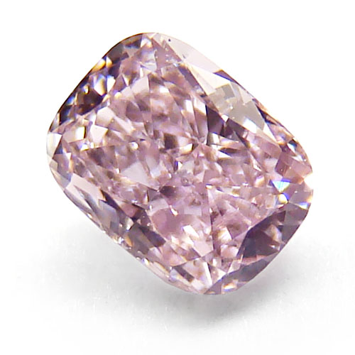 View 0.42 ct. Cushion Fancy Purplish Pink