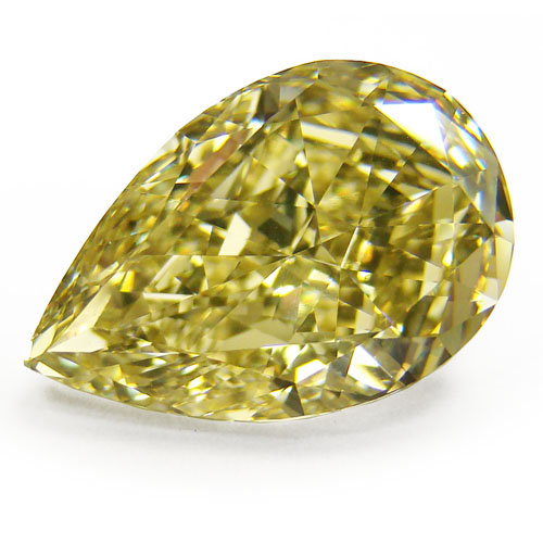 View 5.45 ct. Pear Shape Fancy b. g. Yellow