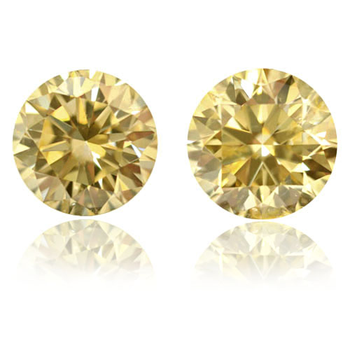 View 1.2 ct. Round Fancy Yellow (Pair)