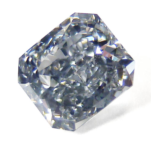 View 0.46 ct. Radiant Fancy Blue-Gray