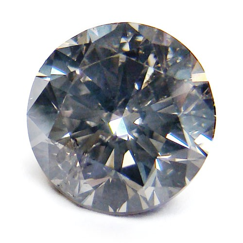 View 3.08 ct. Round Fancy Gray