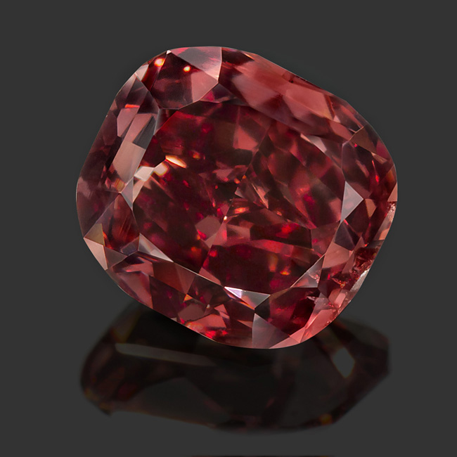 View 0.82 ct. Cushion FANCY RED