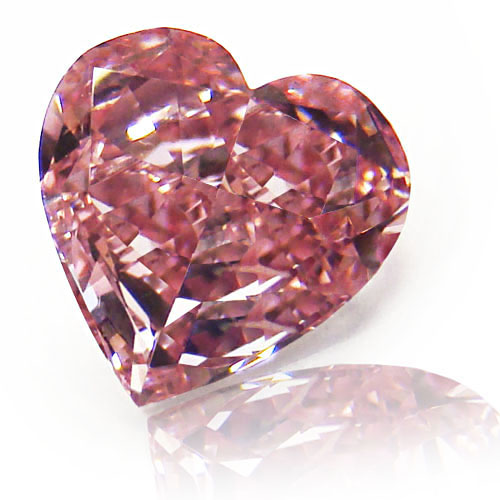View 0.78 ct. Heart Shape Fancy INTENSE Pink