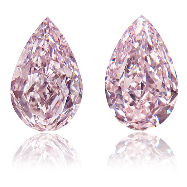 View 2.13 ct. Pear Shape Fancy Pink (PAIR) Flawless/VS1
