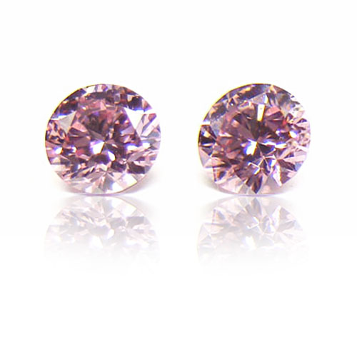 View 0.46 ct. Round Fancy Pink (Pair) Argyle