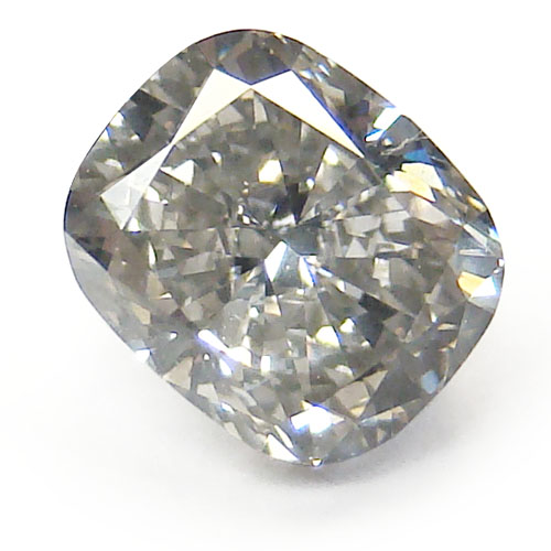View 1.51 ct. Cushion Fancy Gray