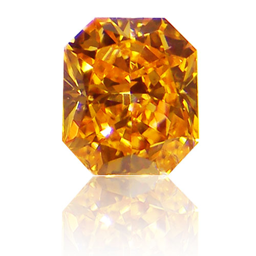View 0.33 ct. Radiant FANCY VIVID ORANGE!