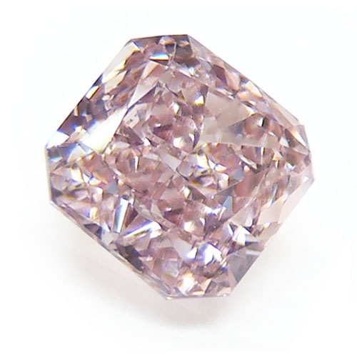 View 0.55 ct. Radiant Fancy Brownish Pink