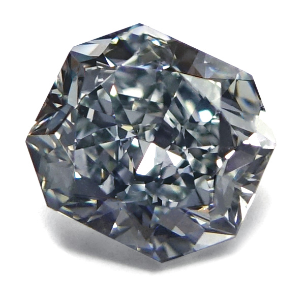 View 1.74 ct. Radiant Fancy Gray Blue (Flawless)