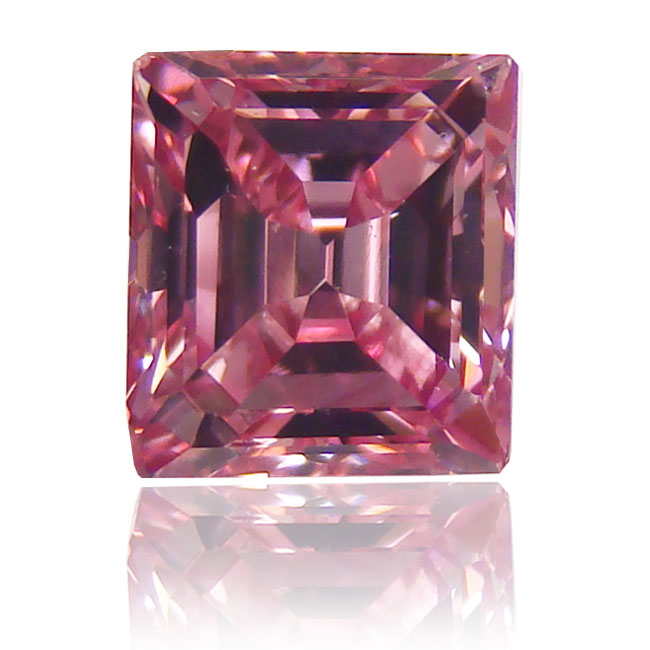 View 1.01 ct. Emerald Cut FANCY VIVID PINK
