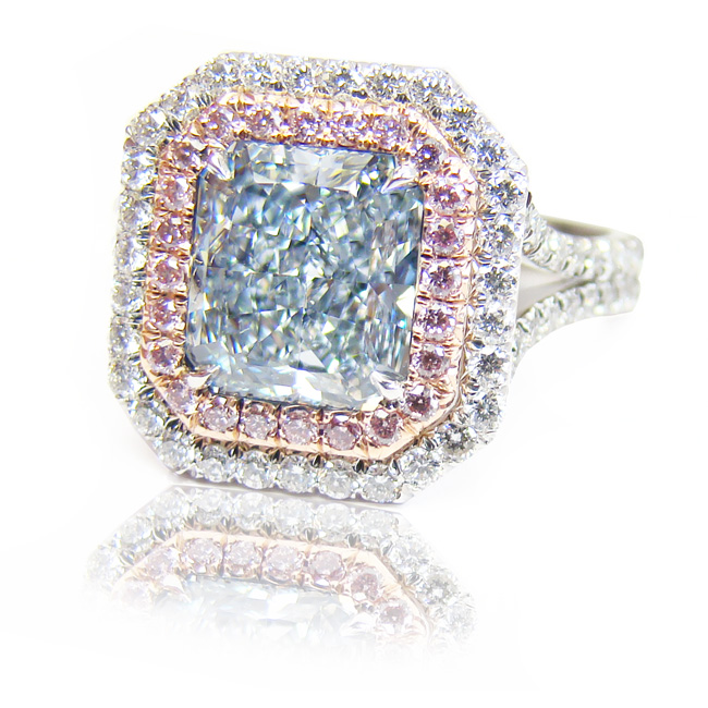 View 2.23 ct. Radiant Fancy Light Blue (Flawless)