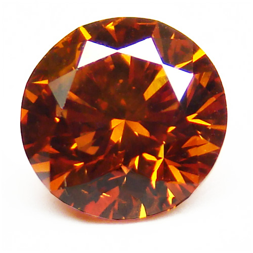 View 0.84 ct. Round Fancy DEEP b. Orange