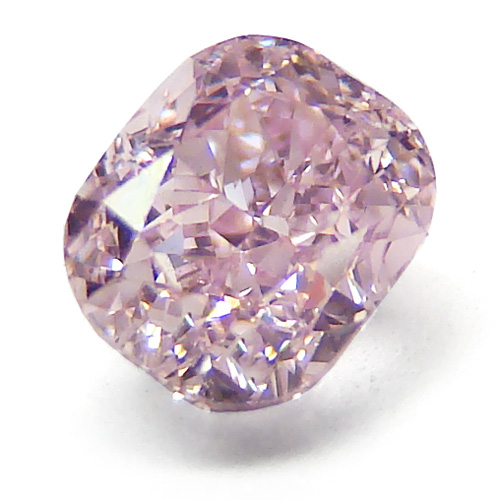 View 0.51 ct. Cushion Fancy Purplish Pink