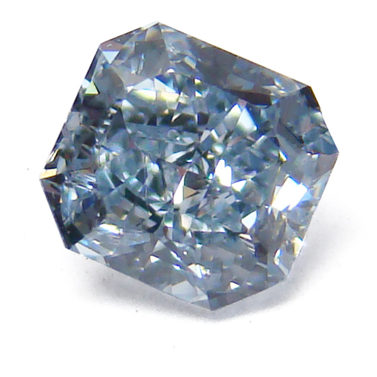 View 0.53 ct. Radiant Fancy Intense Blue