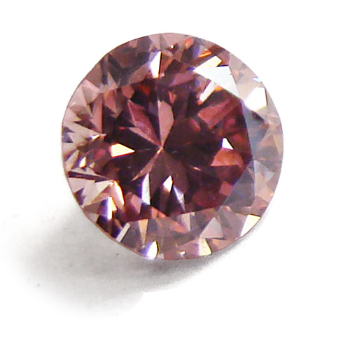View 0.47 ct. Round Fancy Orangy Pink
