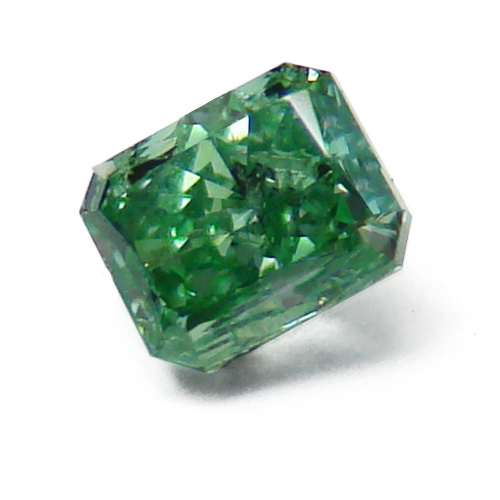 View 0.17 ct. Radiant Fancy VIVID Green