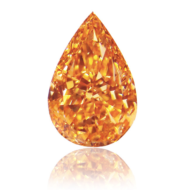 View 1.05 ct. Pear Shape FANCY VIVID ORANGE!