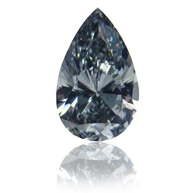 View 0.94 ct. Pear Shape Fancy Gray Blue