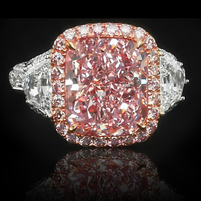View 8.21 ct Fancy Pink Diamond Ring
