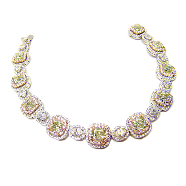 11.49 Radiant Light Green Yellow (Diamond Bracelet)