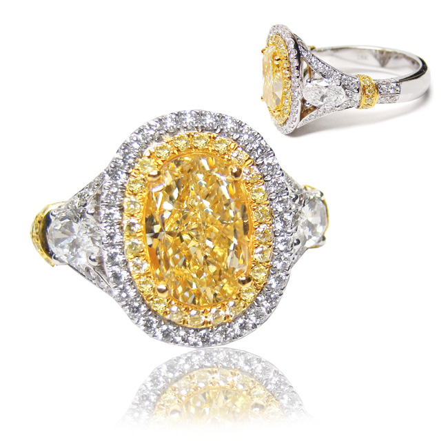 View 2.5 ct. Oval Fancy Yellow (Flawless)