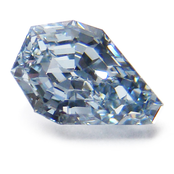 View 0.79 ct. Pear Shape Fancy Intense Blue