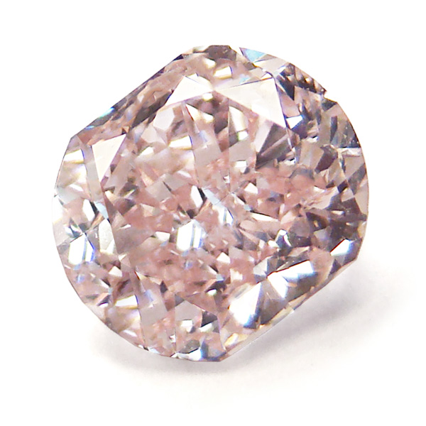 View 1.01 ct. Cushion Fancy Orangy Pink