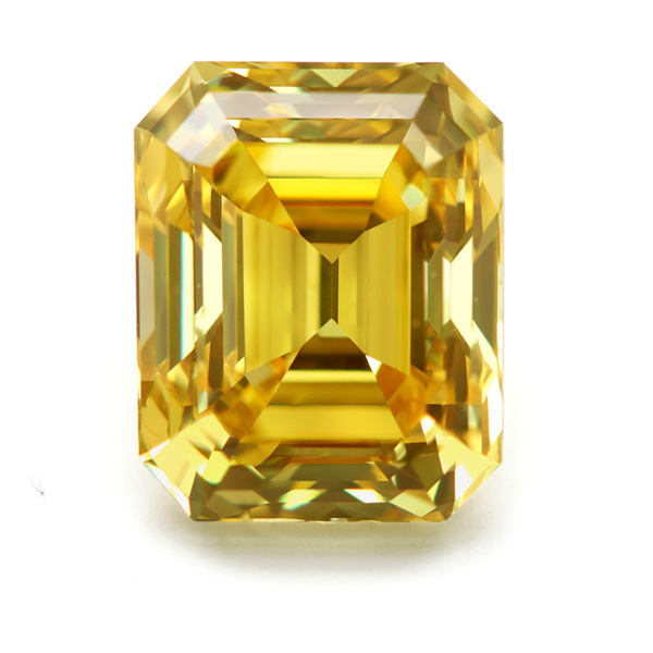 View 2.06 ct. Emerald Cut Fancy Deep Yellow