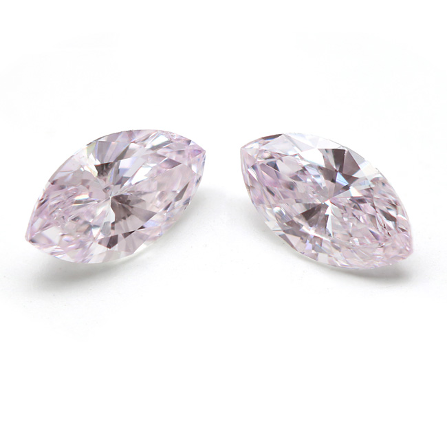 View 0.46 ct. Marquise Fancy Light Pink (Pair)