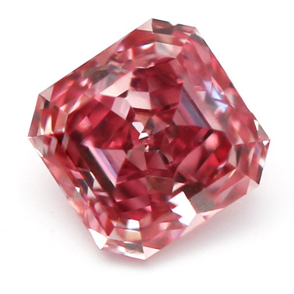 View 0.31 ct. Emerald Cut Fancy VIVID Pink (VVS1)